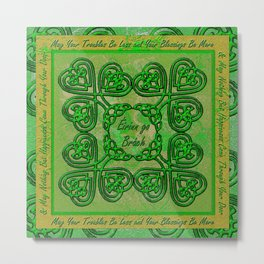 Celtic Irish Clover Duvet Metal Print