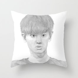 Big eyed Chanyeol Throw Pillow