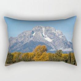 Tetons in the Fall Rectangular Pillow