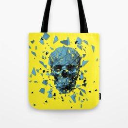 Exploded skull color Tote Bag