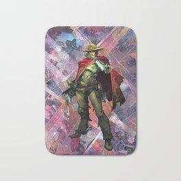 McCree O.W. Gamer Comic Collage PS4 XBox One Geek Art Bath Mat