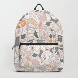 BOHO SUMMER JOURNEY MANDALA - SUNSHINE YELLOW GREY Backpack