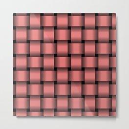 Large Pastel Red Weave Metal Print