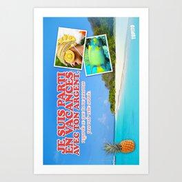 Carte Postale - Je suis parti avec ton argent Art Print