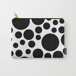 Polka Dot Palace Black on White Carry-All Pouch