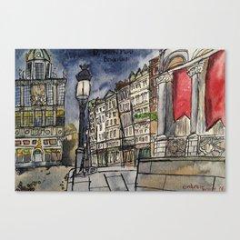 De Grote Markt, Brussels Canvas Print