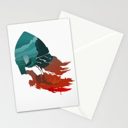Viking god Stationery Cards