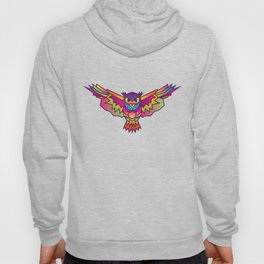 Owl | Geometric Colorful Low Poly Animal Set Hoody