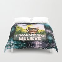 i want to believe Duvet Covers featuring I Want To Believe by Ariana Victoria Rose