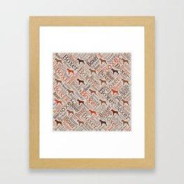 Boxer dog Word Art Framed Art Print