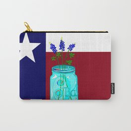 Texas Flag and Blue Bonnets Carry-All Pouch