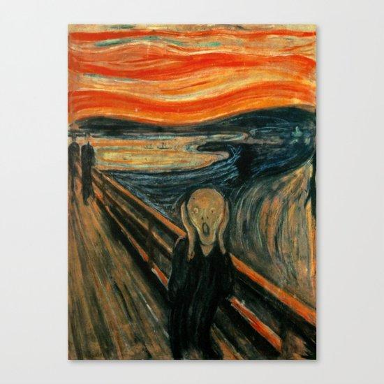 The Scream - Edvard Munch Canvas Print by maryedenoa