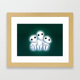 Kodama, Tree Spirits Framed Art Print