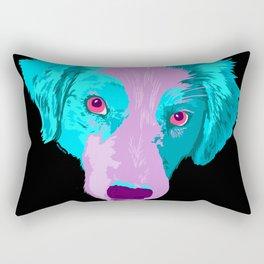 australian shepherd - blk Rectangular Pillow