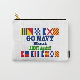 Go Navy, Beat Army in Signal Flags Carry-All Pouch