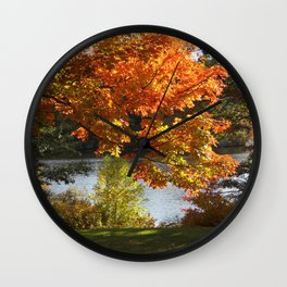 Fall Lake View, Wellesley College Wall Clock