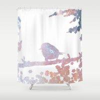 birdy Shower Curtains featuring Birdy by Natashia Lee