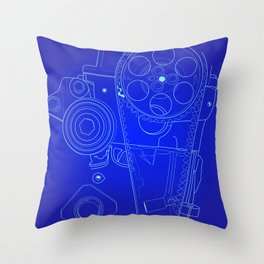 BluePrint: Gears Throw Pillow