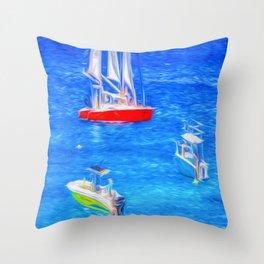Barbados Summer Art Throw Pillow