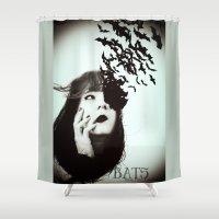 bats Shower Curtains featuring Bats by Nuria Martínez Foto