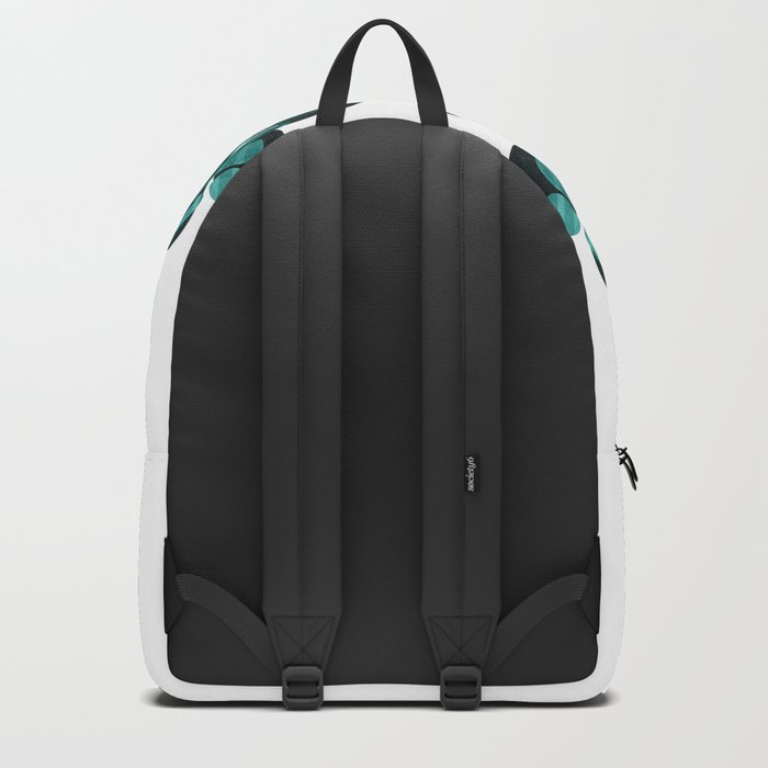 Abstract black and teal Backpack
