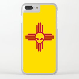 New Mexico Alien Clear iPhone Case