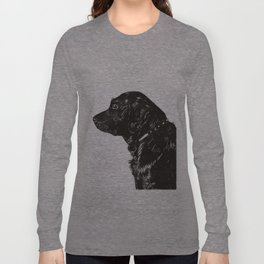 Black Lab Print Long Sleeve T-shirt