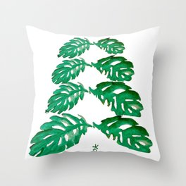 Holiday Tree Leaves perfect for a card Throw Pillow