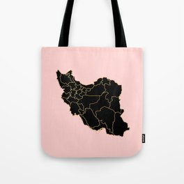 Iran map Tote Bag