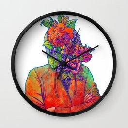 FLOWERS HEAD Wall Clock