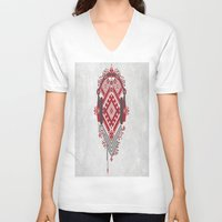 ethnic V-neck T-shirts featuring Ethnic by sophtunes