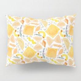 Pasta Pattern on White Pillow Sham