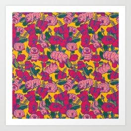 Water bears with Flowers Art Print