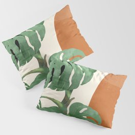 Tropical Leaves- Abstract Art  Pillow Sham