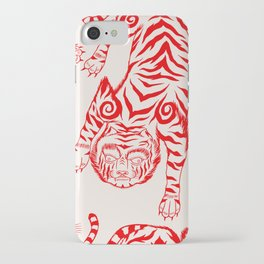 Japanese tiger. Asian illustration pattern iPhone Case