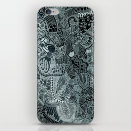 The Underbrush Black and White iPhone Skin