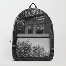 House Of The Rising Sun - Black And White Backpack