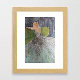 Green Couch Bride Framed Art Print