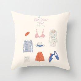 Parisian Chic: Starter Pack Throw Pillow