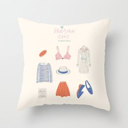 Parisian Chic: Starter Pack Throw Pillow