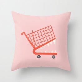 Consumerism | Carefree Throw Pillow