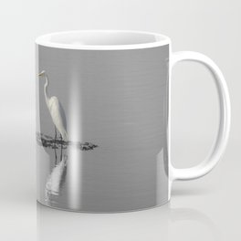 """Mirrored Egret"" by Murray Bolesta Coffee Mug"
