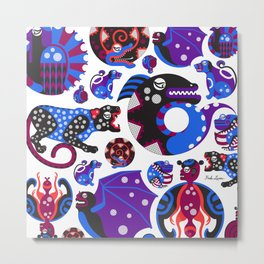 Animales Interiores  Metal Print