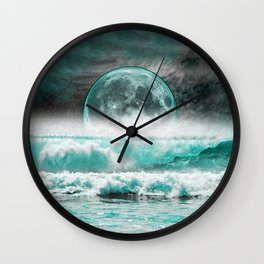 OCEAN MOON Wall Clock