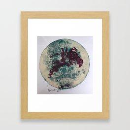 Gelli Grapes Framed Art Print
