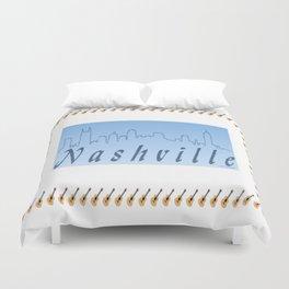 Nashville Skyline Blue Duvet Cover