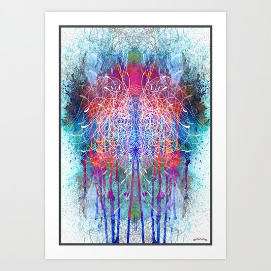 Watercolour Forests Art Print