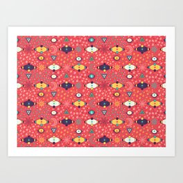 Cosmos Pattern Art Print