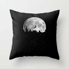 The Moon Climber Throw Pillow