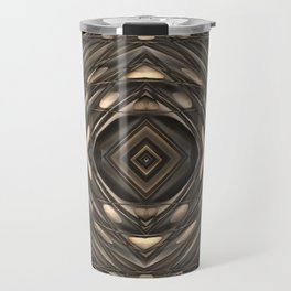Architectural abstract in four-way symmetry of the Broad, Los Angeles, California Travel Mug